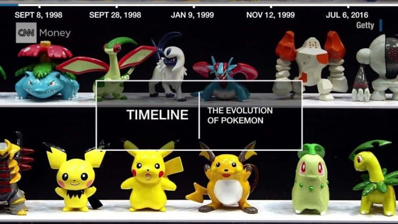 شاهد.. بوكيمون من 1998 وحتى 2016