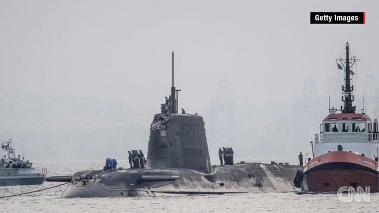 بالفيديو: حادث اصطدام بين غواصة نووية بريطانية وسفينة تجارية قبالة ميناء جبل طارق