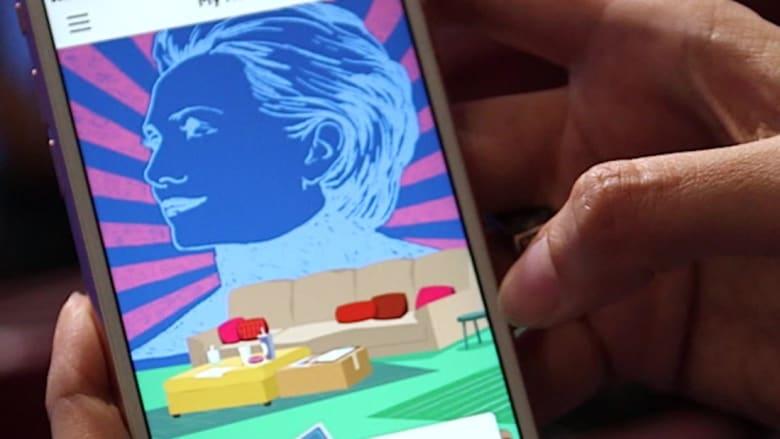 """حملة كلينتون تطلق تطبيقا جديدا مستوحى من ألعاب """"كاندي كراش"""" و""""فارم فيل"""""""