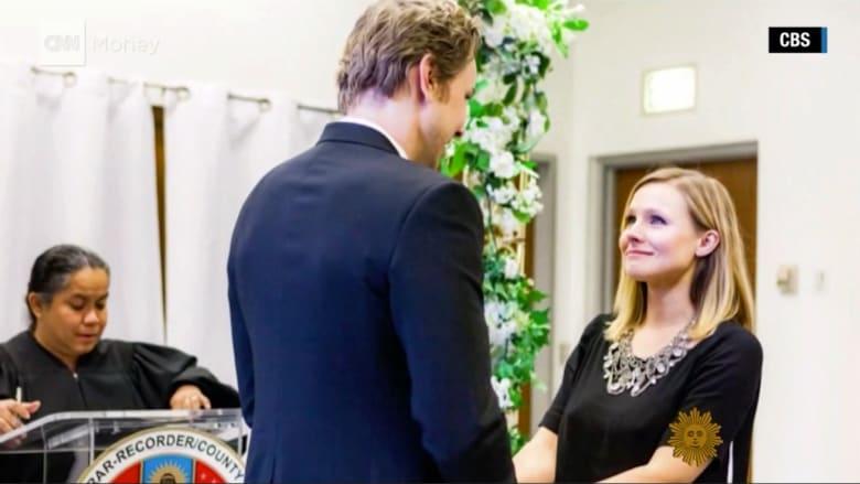 كريستين بيل تشارك صوراً من حفل زفافها