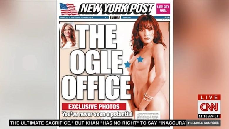 كيف تعلق حملة ترامب الرئاسية على نشر جريدة نيويورك بوست لصورة زوجة ترامب العارية على غلافها؟