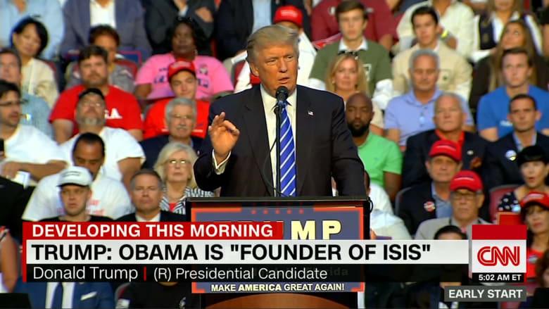 دونالد ترامب: باراك حسين أوباما هو مؤسس داعش