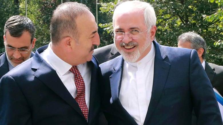 جاويش أوغلو: أمن إيران من أمن تركيا ومتفقون على وحدة سوريا .. وظريف: نرحب بتقارب أنقرة مع موسكو