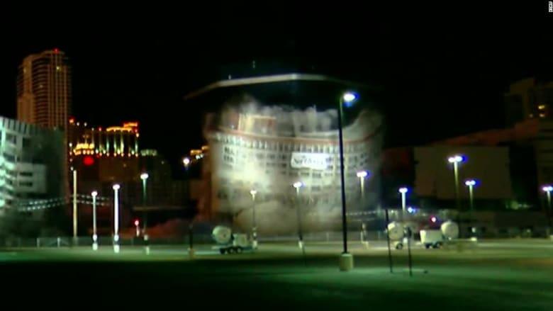 هدم فندق تاريخي في لاس فيغاس خلال ثوان