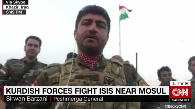 لواء في البشمرغة لـCNN: الجيش العراقي غير مستعد لاستعادة الموصل وحده