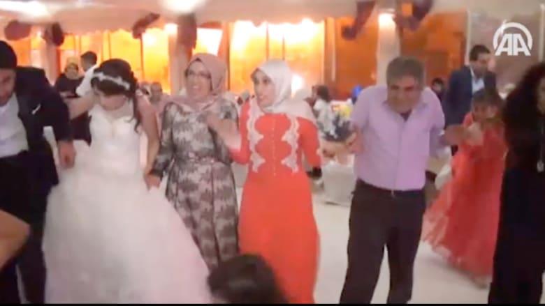 شاهد.. لحظة وقوع انفجار قرب حفل زفاف في تركيا و9 قتلى بهجومين