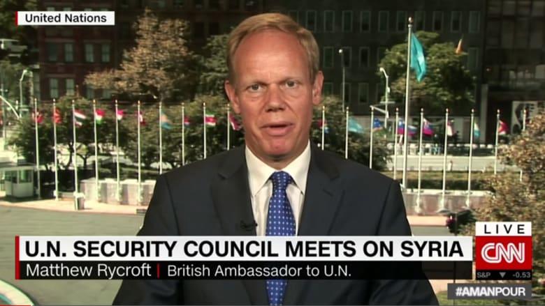 سفير بريطانيا بالأمم المتحدة لـCNN: القصف بسوريا يتعمد العشوائية