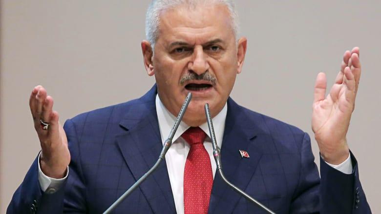 """يلدريم عن عملية """"درع الفرات"""": تركيا لا تطمع بالأراضي السورية.. وهمنا الوحيد المنظمات الكردية الإرهابية"""