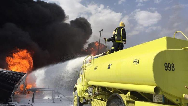 """""""أرامكو"""" السعودية تنفي تعرض منشآتها النفطية للقصف.. وقذيفة من اليمن تحرق محول كهرباء في نجران"""