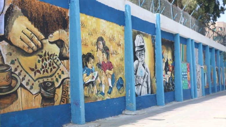 جداريات فنية تظهر الجانب الجميل بغزة بعيداً عن المعاناة