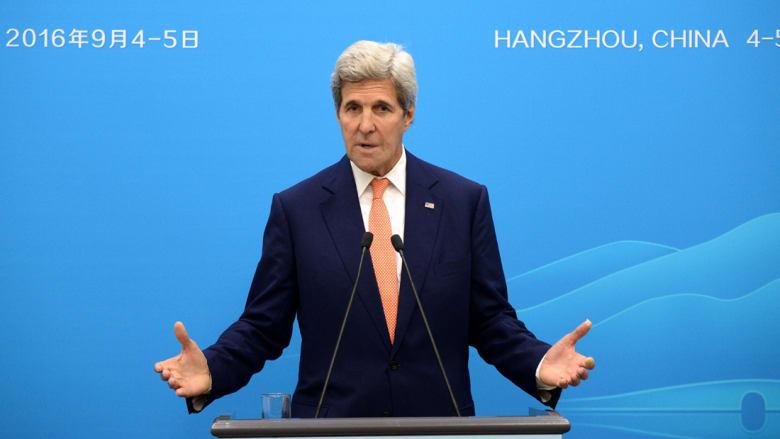 كيري: المباحثات مستمرة مع روسيا للتوصل إلى اتفاق بسوريا
