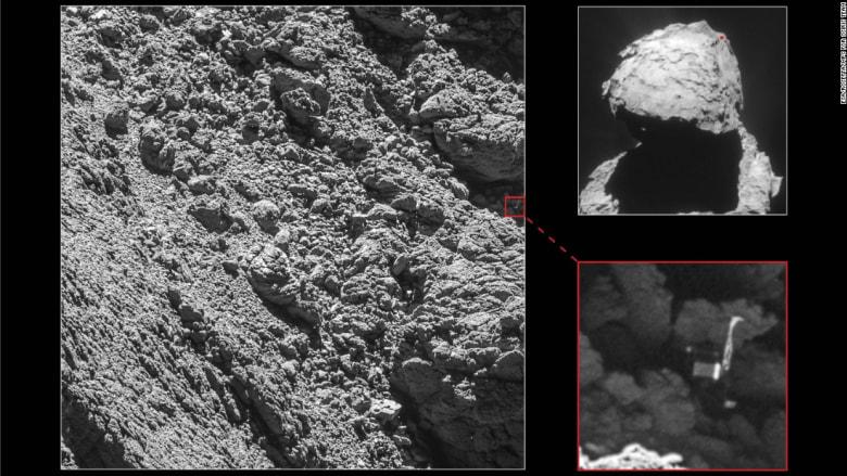 العثور على مسبار فضائي فُقد منذ عامين وسط الظلام على سطح مذنب