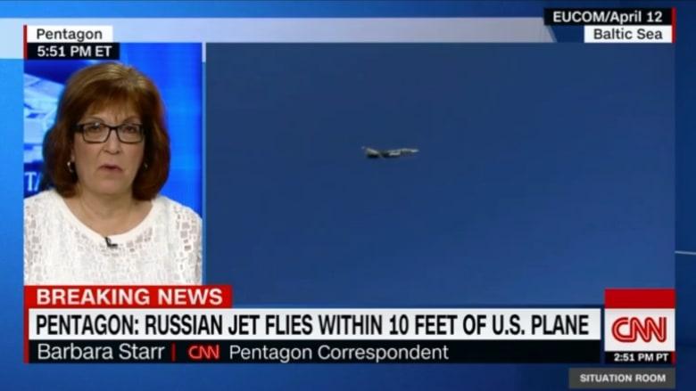طائرة حربية روسية تقترب من طائرة أمريكية لمسافة 3 أمتار