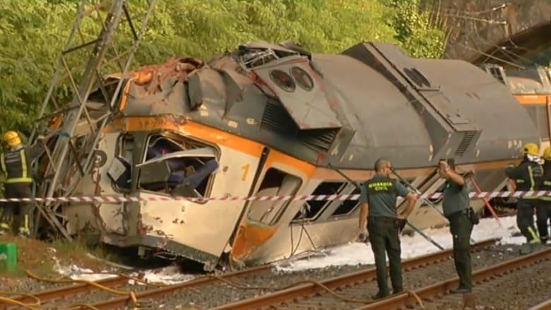 مصادر لـCNN: قتلى وجرحى إثر انحراف قطار أسباني عن مساره يحمل أكثر من 60 راكبا