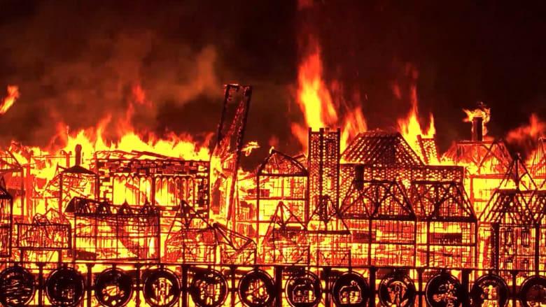 لندن تحترق مجدداً في ذكرى الحريق الكبير