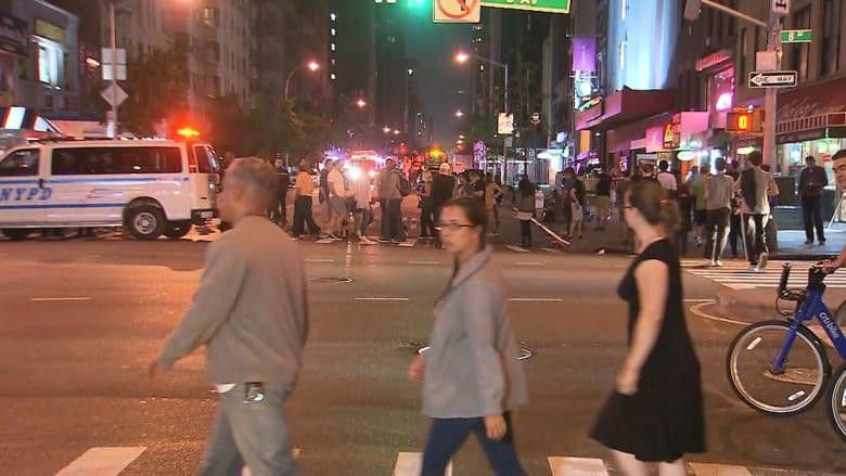مشاهد أولية من موقع انفجار مانهاتن في نيويورك