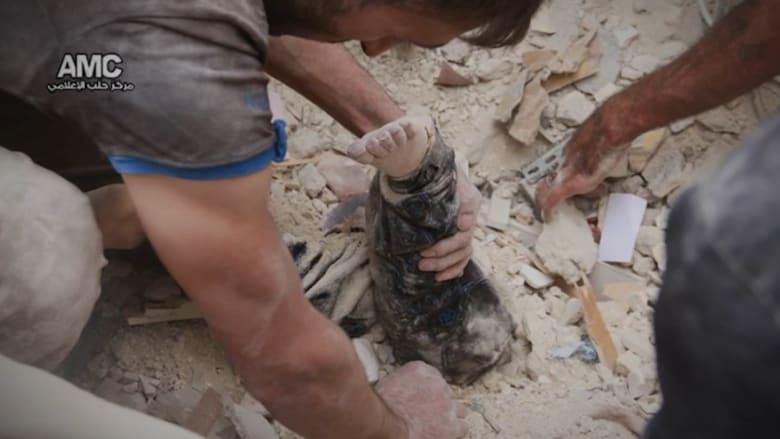 صور مؤلمة ومشاهد مؤثرة.. حلب تحت القصف