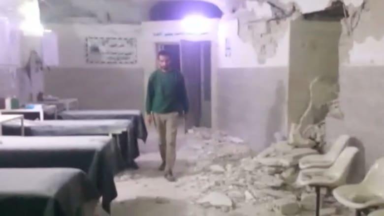 """غارة بصواريخ """"خارقة للتحصينات"""" على مستشفى بداخل كهف في سوريا"""