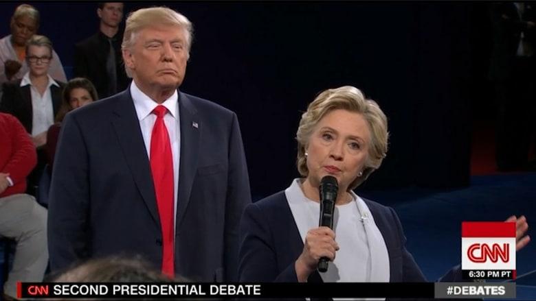 """ترامب: """"بيل كلنتون كان أسوأ مني ببذاءته مع النساء"""""""