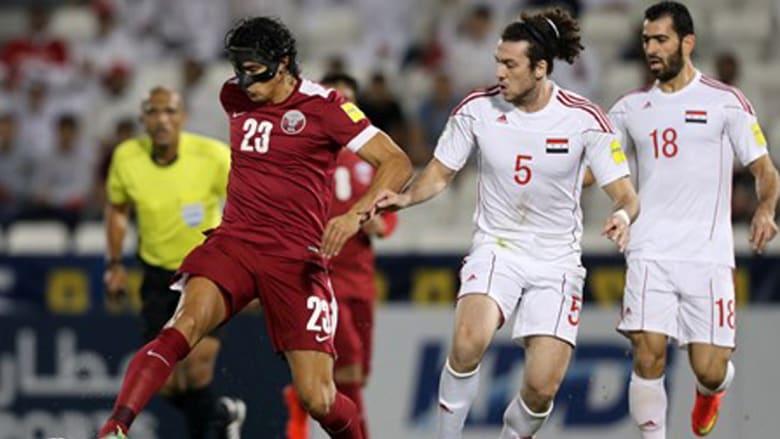 قطر تفوز على سوريا في مباراة مشحونة بالدوحة