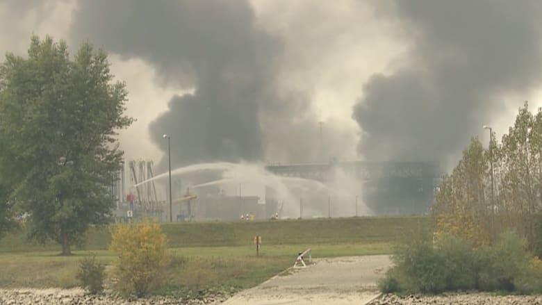 مقتل شخص بانفجار ضخم بمنطقة صناعية بألمانيا