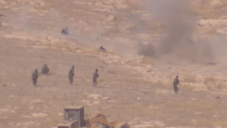 كاميرا CNN ترصد انتحاريا بداعش يفاجئ قوة بالبشمرغة من نفق