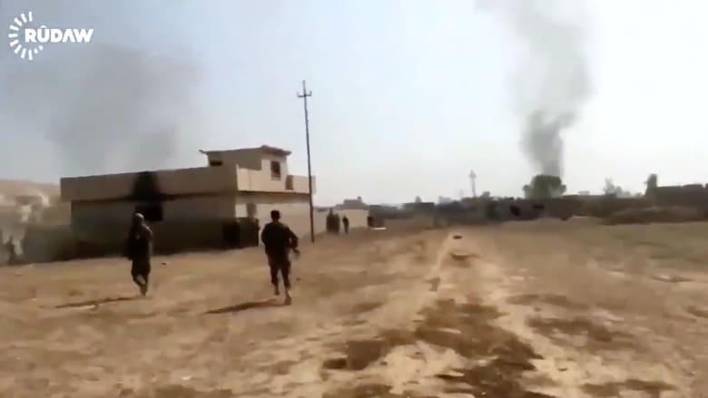 شاهد.. معارك عنيفة قرب الموصل من كاميرا مثبتة على جسد جندي كردي