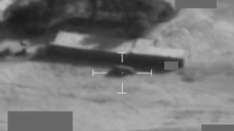 شاهد.. قوات بريطانية تدمر شاحنة مفخخة لداعش بالقرب من الموصل