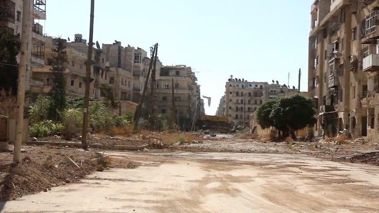 شوارع مهجورة في حلب خوفاً من القناصة والقصف