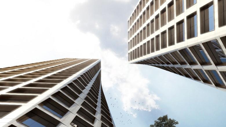 برجان ملتويان سيتراقصان في أفق نيويورك في 2019