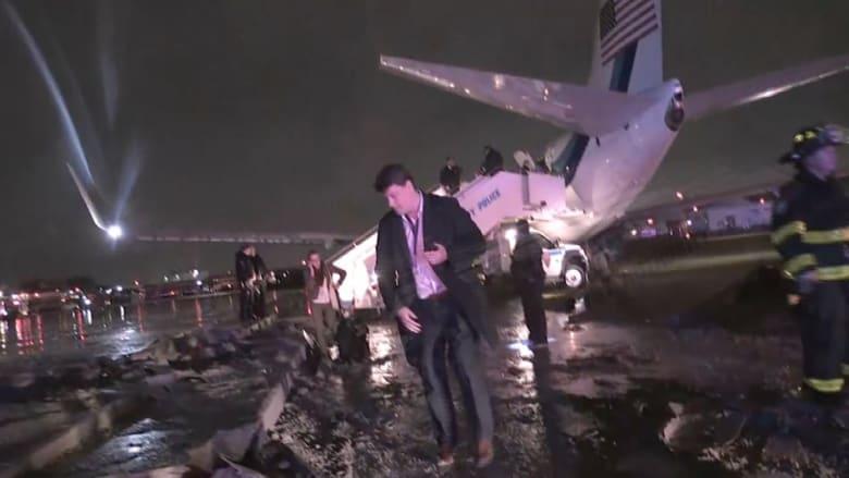 انزلاق طائرة نائب ترامب