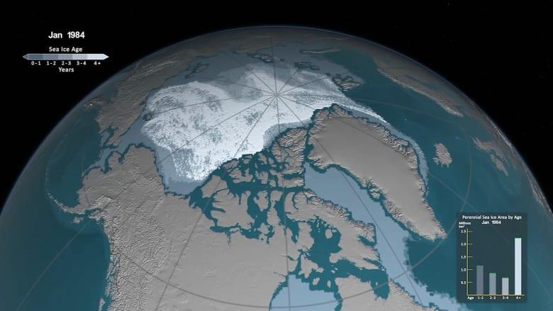 ناسا تكشف عن ذوبان خطير في جليد القطب الشمالي