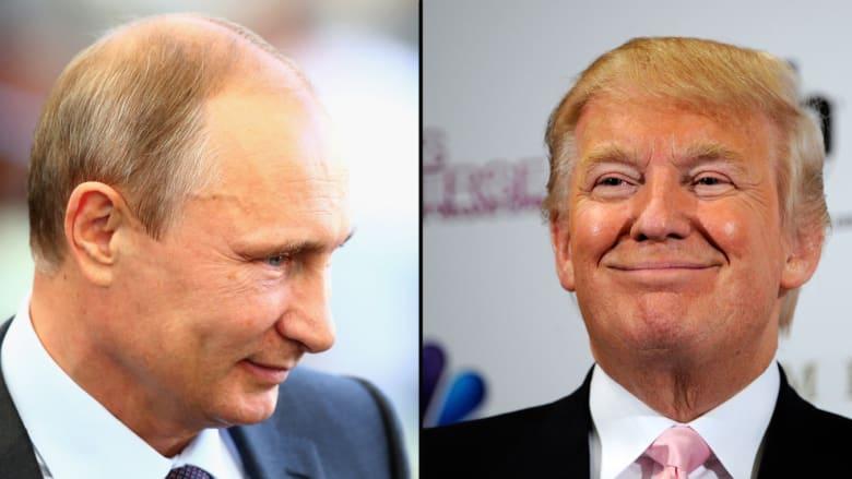 بوتين يهنئ ترامب: نأمل بحل أزمة علاقات روسيا وأمريكا