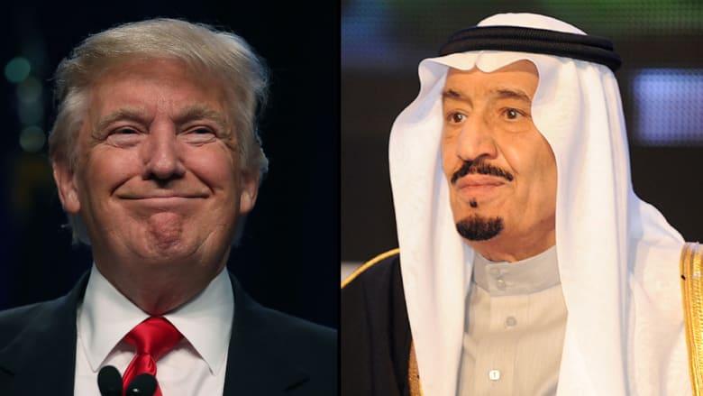 الملك سلمان يهنئ ترامب ويشيد بالعلاقات الأمريكية السعودية