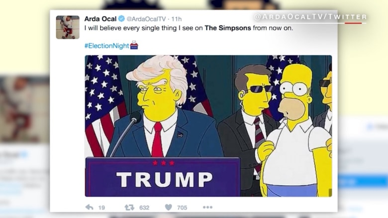 """شاهد.. حلقة """"ذا سيمبسونز"""" تتنبأ بفوز ترامب وإفلاس أمريكا قبل 16 عاماً"""