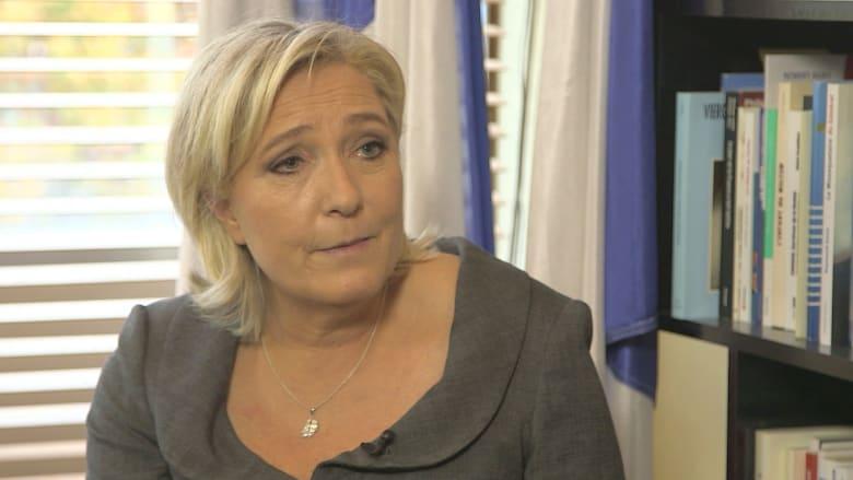 مارين لوبان لـCNN: فوز ترامب أمل جديد.. والفرنسيون معي