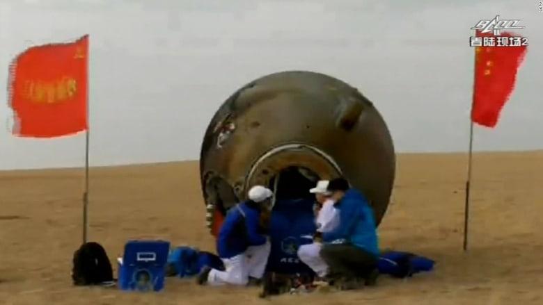 شاهد.. عودة رواد الفضاء بعد أطول مهمة فضائية للصين