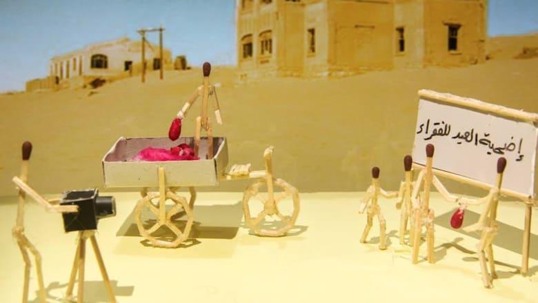 فنان فلسطيني يحكي قصة بلده بأعواد الكبريت