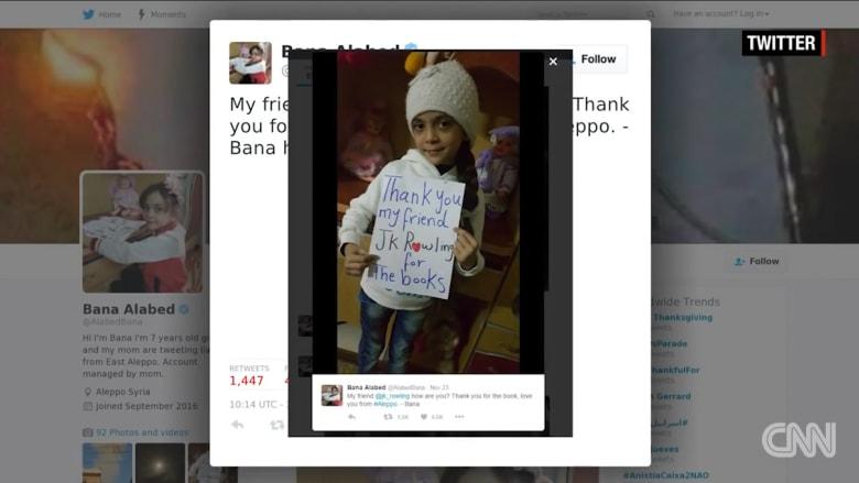 """جاي كاي رولينغ ترسل """"هاري بوتر"""" لطفلة في حلب"""