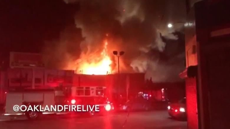 مقتل 9 أشخاص على الأقل إثر حريق في بناية بمدينة أوكلاند الأمريكية