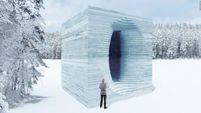 لن تصدقوا بأن هذه الأشكال نحتت من الجليد فقط!