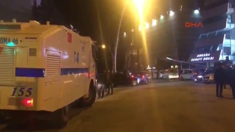 مشاهد أولية بعد إطلاق النار على السفير الروسي في أنقرة