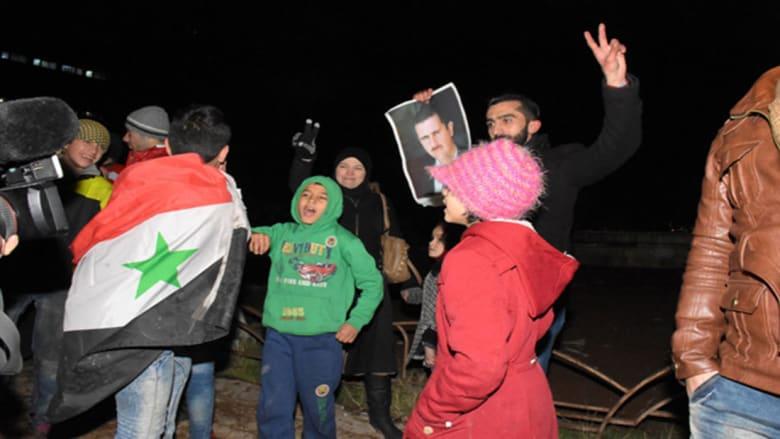 """الوكالة السورية تنشر فيديو لـ""""مسيرات حاشدة احتفالا بحلب"""""""
