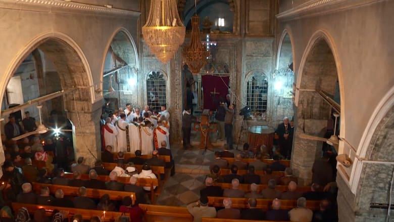 """برطلة تشهد أول قداس لعيد الميلاد منذ عامين بعد تحريرها من """"داعش"""""""