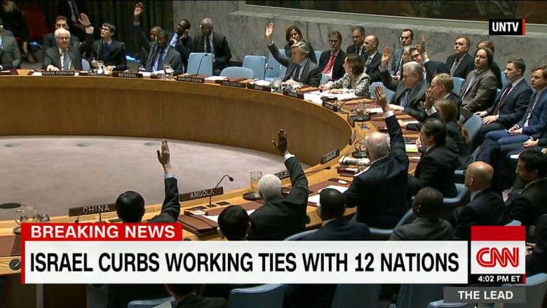 """بعد """"إدانة الاستيطان"""".. إسرائيل تقطع علاقات العمل مع 12 دولة"""