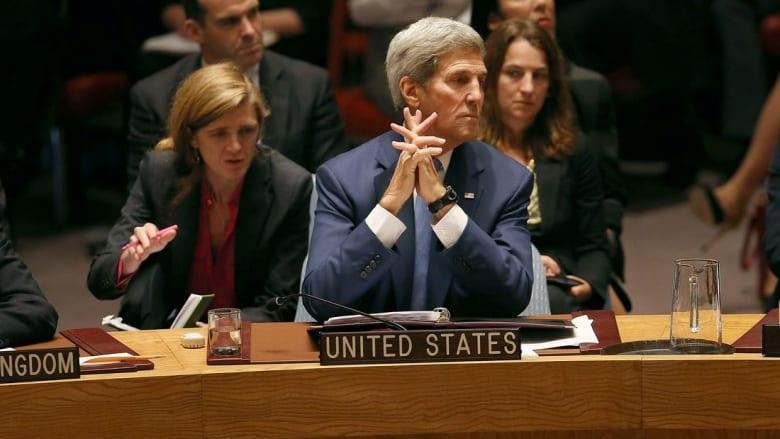 كيري ينتقد الجانبين الإسرائيلي والفلسطيني.. ويدافع عن موقف بلاده بخصوص قرار إدانة الاستيطان