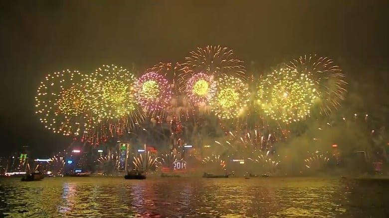شاهد.. احتفالات هونغ كونغ والفلبين بـ2017