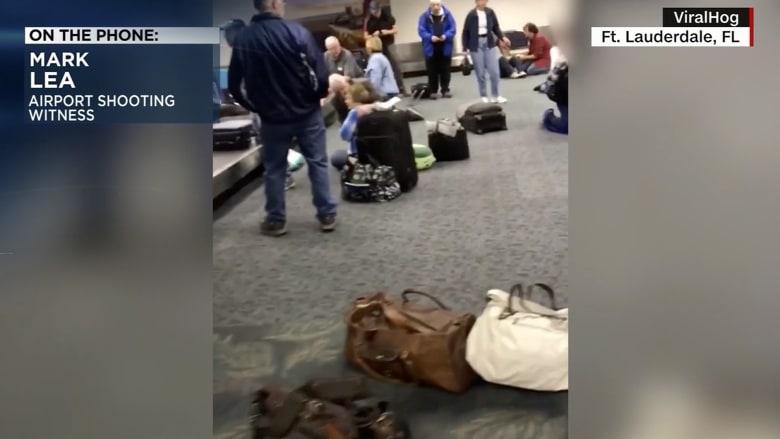 """شاهد عيان يروي حالة الرعب في مطار """"فورت لودرديل"""" لحظة إطلاق النار"""