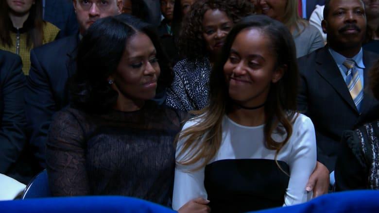 خلال خطاب أوباما لابنتيه.. أين اختفت ابنته الثانية؟