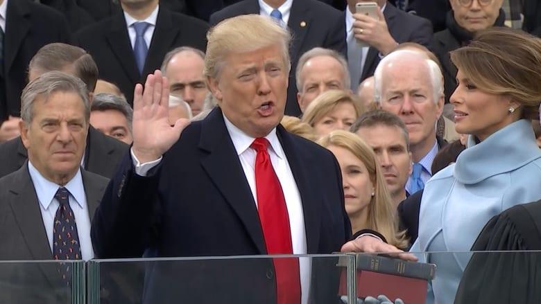 شاهد.. أبرز اللحظات في حفل تنصيب ترامب